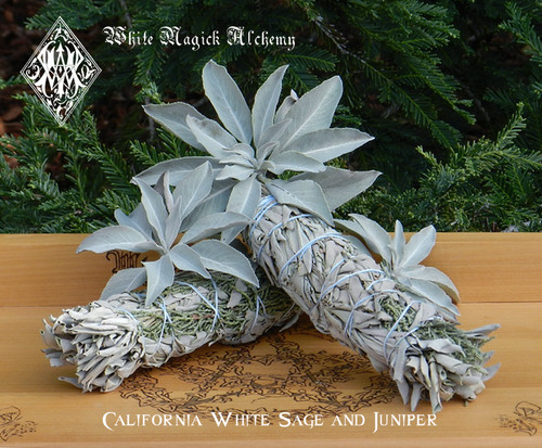 White Sage and Juniper Smudge Wands