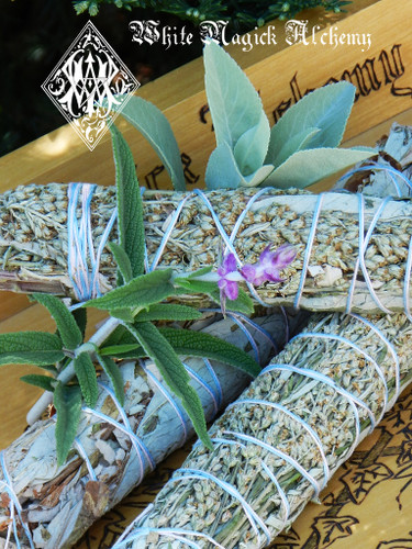 Black Sage, White Sage and Mugwort Smudge Sticks