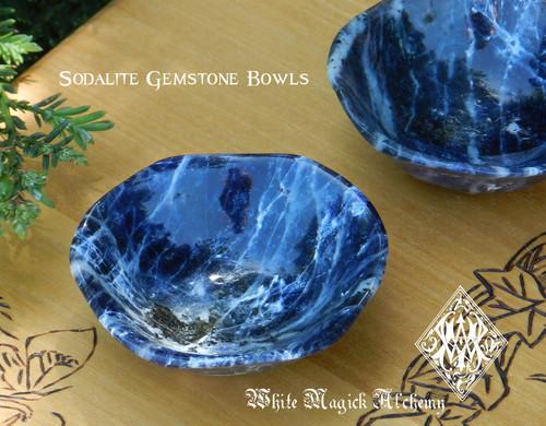Sodalite Gemstone Offering Bowls