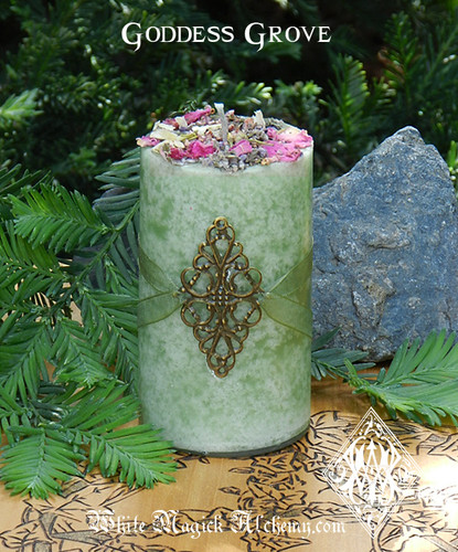 Goddess Grove Herbal Alchemy Candles . Divine Guidance