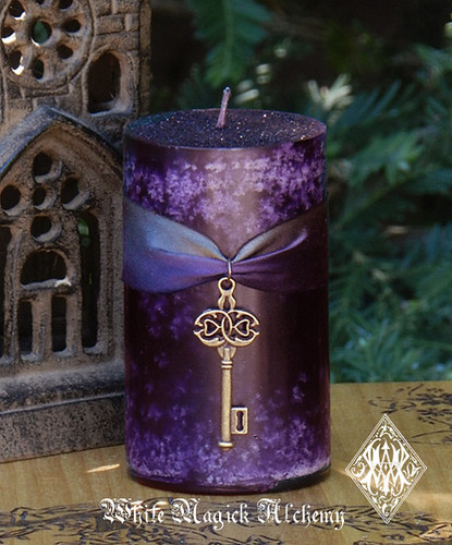 Key to the Crossroads HEKATE Pillar Candles Dark Goddess, Otherworldly Spirit Workings