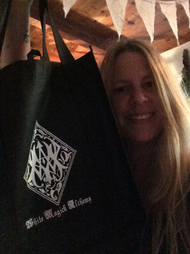 White Magick Alchemy Sigil Logo Tote Bag