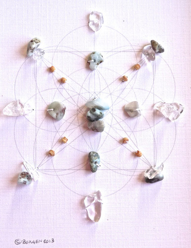 Crystal Grid ATLANTIS with Crystal Quartz and Larimar The Blue Stone of Atlantis