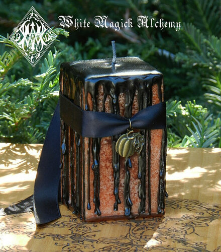 Hallows Eve Witches Magick Candle for Samhain & Halloween