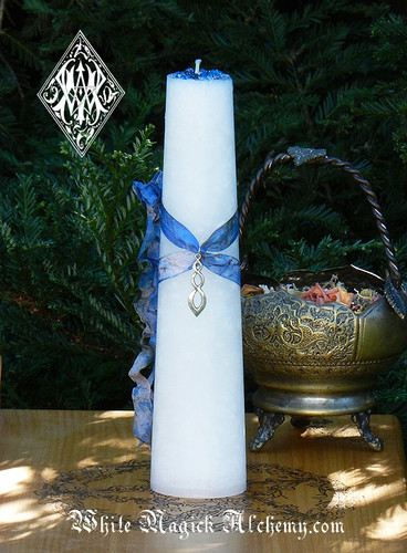 Peace and Healing Torch Light Candle 2x9 Pillar