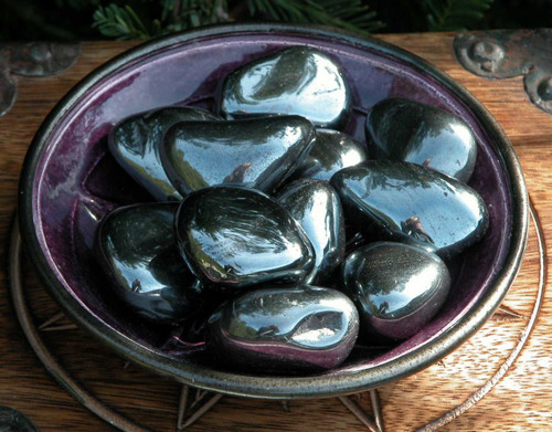 Hematite Tumbled Gemtone . Large Jumbo . Non Magnetic For Healing, Grounding, Divination, Psychic Awareness, Mental Focus