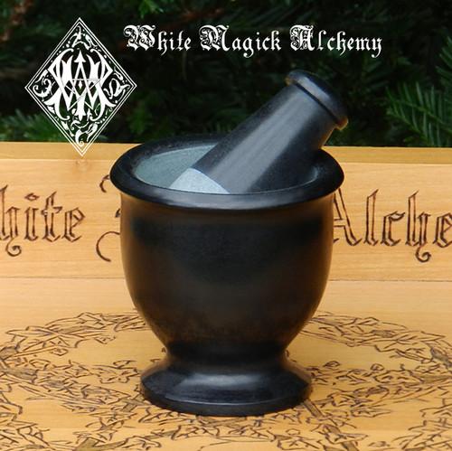 Black Stone Mortar & Pestle Set