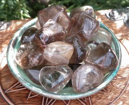 Smokey Quartz Tumbled Gemstones . Grounding, Balance, Transformation, Protection, Creativity, Positive Energy . Jumbo Set of 2