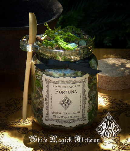 FORTUNA Proprietary Herbal Spell Blend 8.5 Ounce Jar with Wooden Spoon