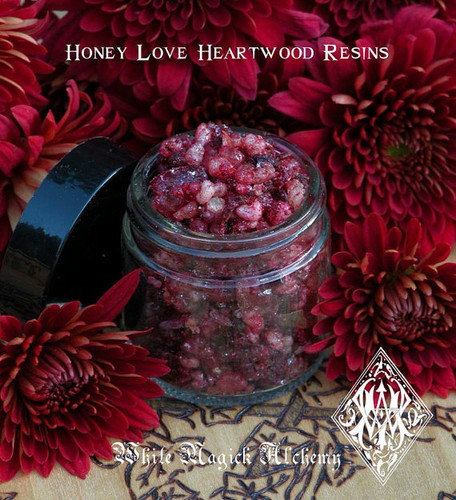 HONEY LOVE Resins of the Ancients Drenched in Honey and Essential Oils For Honoring the Spirit of Love, Love Spells and Attraction