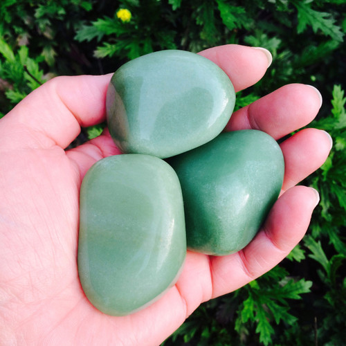 Aventurine Tumbled Gemstone HUGE Jumbo for Abundance, Money, Regeneration
