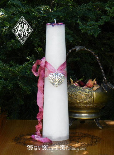 Twin Flame Love Torch Light Candle 2x9 Pillar