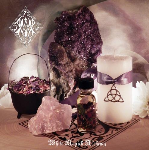 Trinity Triple Goddess Ritual Set for Goddess Invocation, New Beginnings, Strength, Fertility & Love
