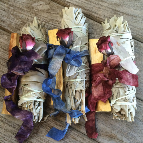 Sacred Clearing & Purification Set - White Sage, Palo Santo, Quartz Crystal
