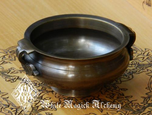 "Bronze Age Cauldron Pot Medium 4"" for Incense, Resins, Sage"