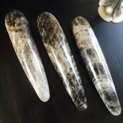 Black Rainbow Moonstone Wands for Moon Energy