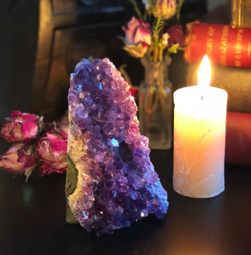 Amethyst Cluster for Love, Peace & Magic