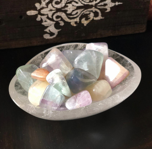 Fluorite Tumbled Gemstones for Releasing Stress, Anxiety & Banishing - Softer Hues