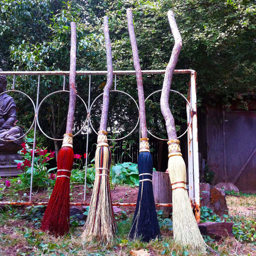 Witch Brooms & Besoms - Ceremonial Brooms for Cleansing Ceremonies, Handfastings, Weddings & Ritual