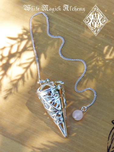 Seven Stone Pendulum Set with Changeable Gemstones for Divination, Reiki & Aligning Chakras