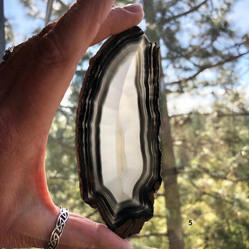 Agate Slab Black & Grey #5