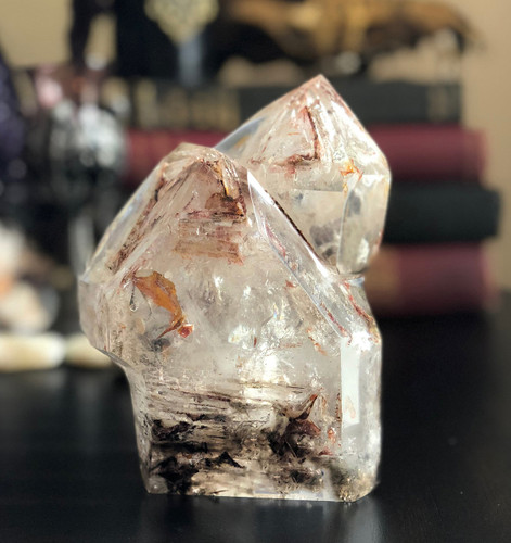 Elestial Quartz Rainbow Point