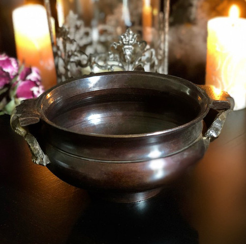 "Bronze Age Cauldron Pot Medium 4"" for Incense, Resins & Sage"
