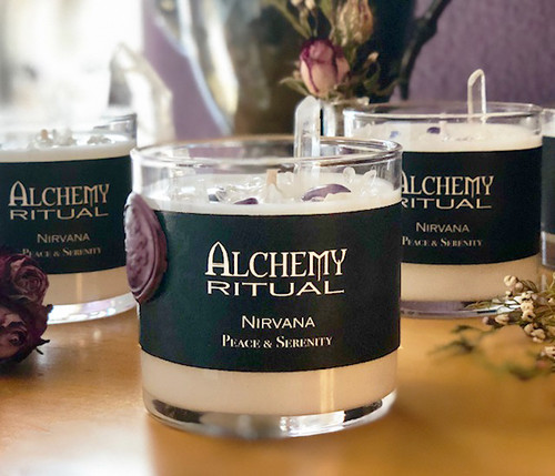 Nirvana - Alchemy Ritual Candles for Peace & Serenity