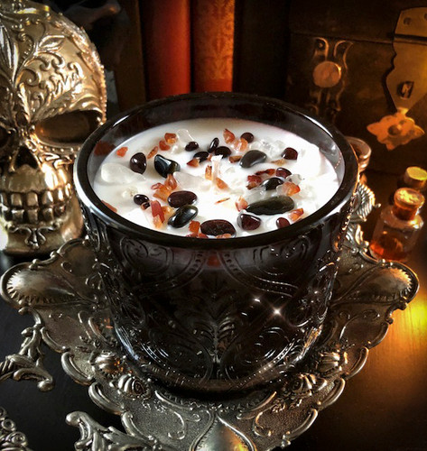 Season of the Witch Alchemy Ritual Witches Magick Candles with Crystals & Mysterious Ancient Essences of Samhain