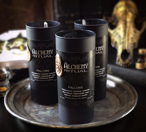 Hallows - Alchemy Ritual Vigil Lights Candles for Samhain, All Hallows Eve, Halloween, Ancestor Magick