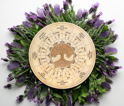 Wheel of the Year 2019 Calendars Northern/Southern Hemisphere with Pagan Holidays, Moon Phases & Astrological Calendar