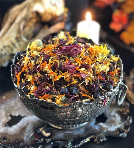 Samhain Veils Edge Casting Herbs for Breaking thru the Veil, Seance, Otherworldly Spirit Workings & Samhain Offering