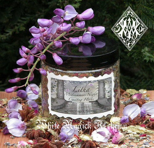 Litha Midsummers Night Casting Herbs . Organic Flora, Fruits, Herbs and Woods