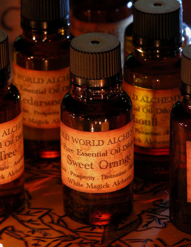 Sweet Orange Essential Oil . White Magick Alchemy Pure Essential Dilute . Luck, Abundance, Prosperity, Fertility, Divination