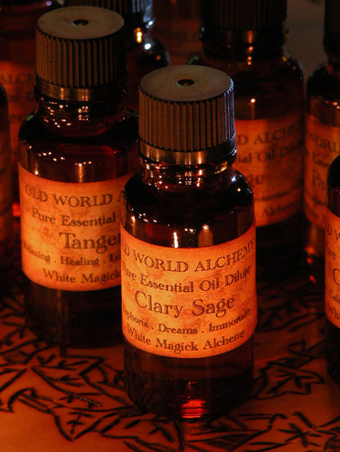 Clary Sage Essential Oil . White Magick Alchemy Pure Essential Dilute . Euphoria, Dreams, Immortality