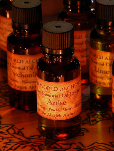 Anise Essential Oil . White Magick Alchemy Pure Essential Dilute . Otherworldly Spirit Path Workings, Protection, Visions, Divination