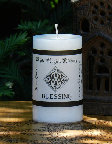 BLESSING Spell Candle . For Home Blessings, Spiritual Blessings, Health, Clearing Negative Energy