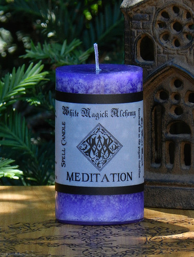 MEDITATION Spell Candle . Enhance Meditation, Peace, Tranquility, Nature Workings