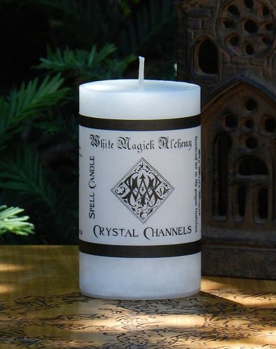 CRYSTAL CHANNELS Spell Candle . Consecrate and Charge Crystals and Gemstones