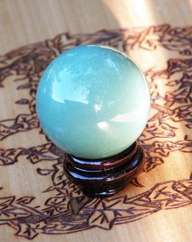 Aventurine Crystal Gemstone Sphere . Luck, Prosperity, Business Success, Money, Employment, Creativity, Peace