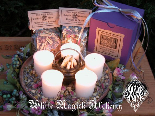 Imbolc - Candlemas FESTIVAL OF LIGHT Altar Kit - Flourishing Abundance, Renewal, Fertility, Purity and Illumination