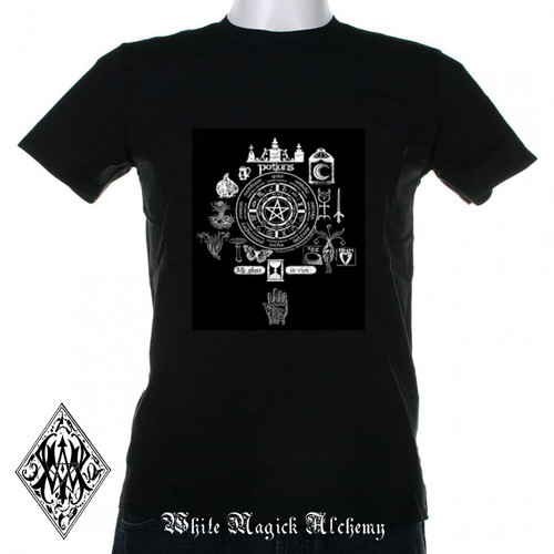 Spells & Magic Potions Wheel of the Year T-Shirt - Size Small - 3XL
