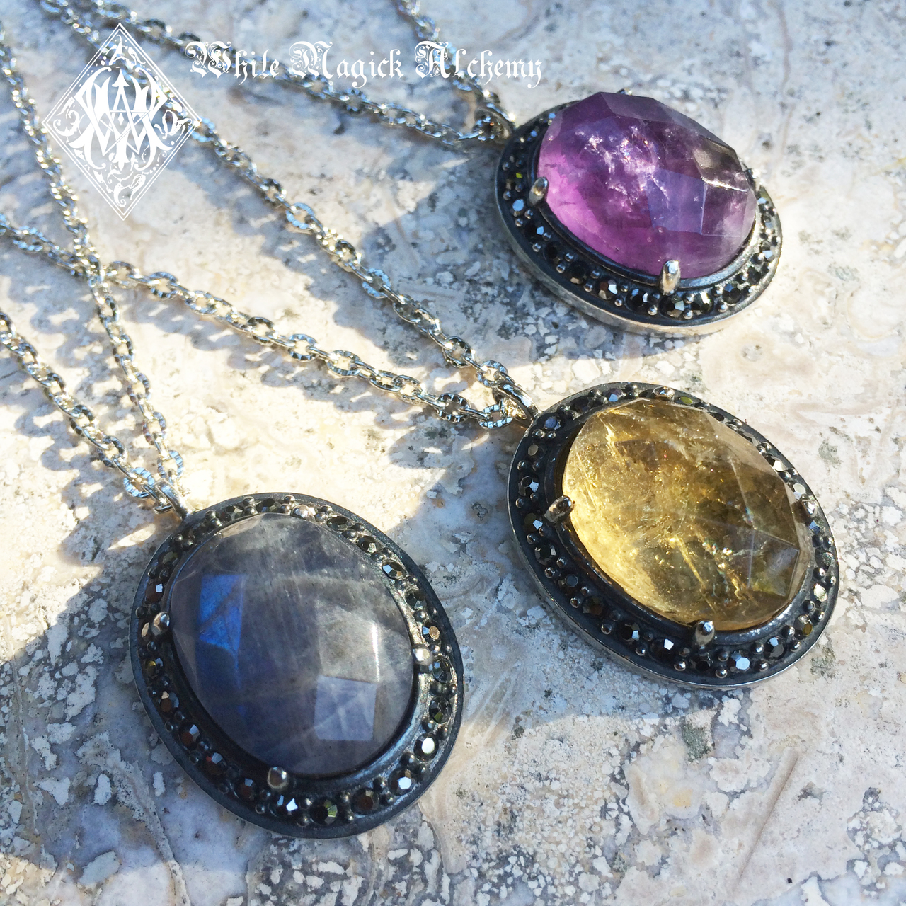 Princess pendants in labradorite citrine amethyst gemstone princess pendants in labradorite citrine amethyst gemstone pendants in silver with marcasite aloadofball Image collections