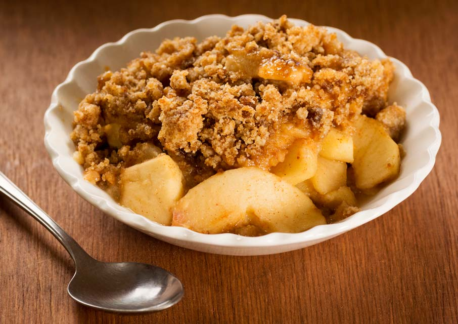 This healthy apple crisp recipe is easy.