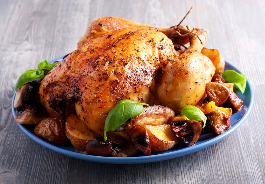 Roast chicken is easy and this spicy version is full of healthy spices.