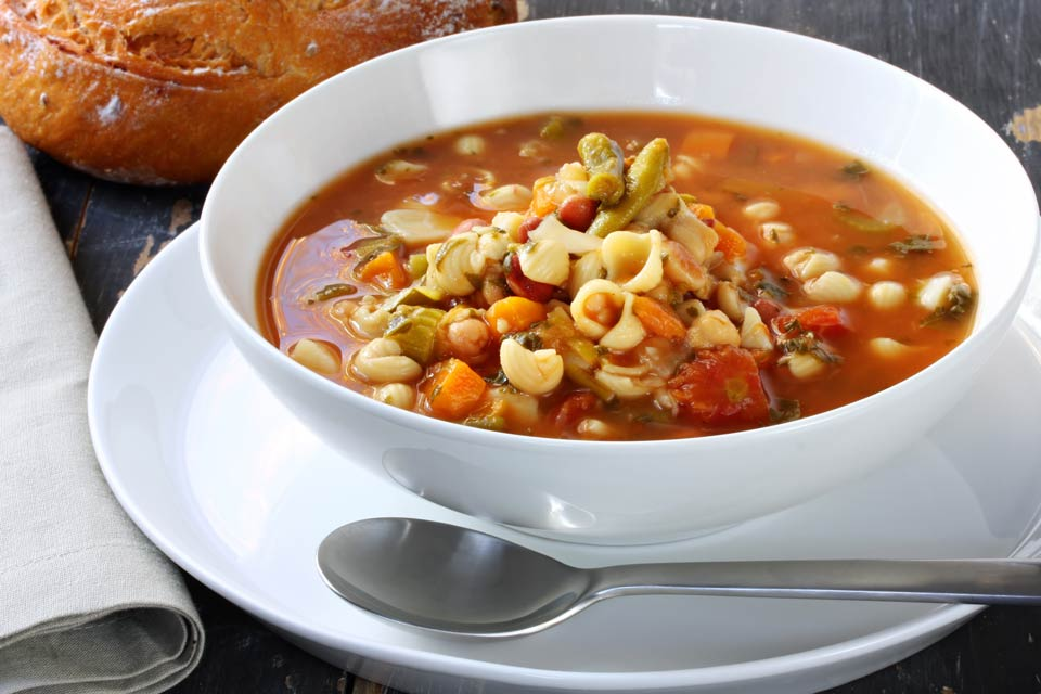 Learn how to make a hearty, healthy minestrone soup in less than an hour.