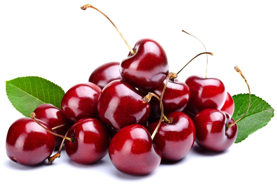 Cherries are healthy and delicious.