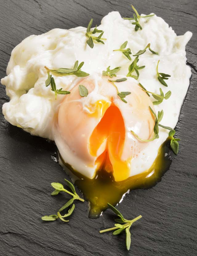 Learn how to make a poached egg in the microwave.