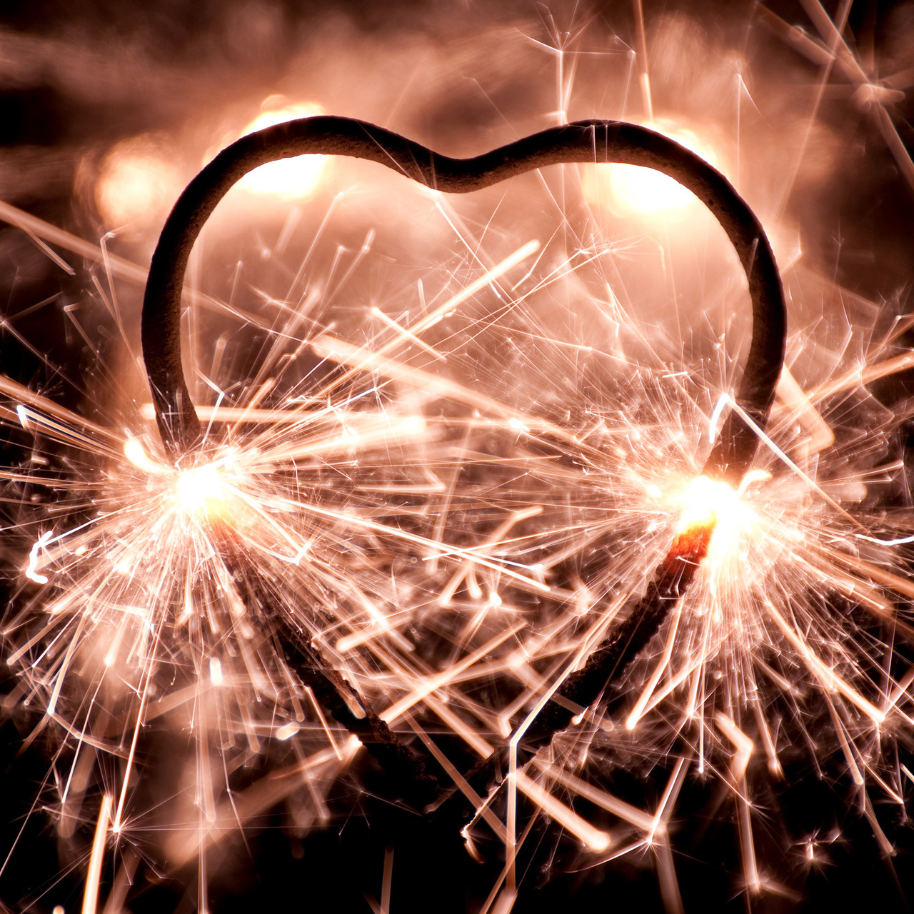 Heart Shaped Wedding Sparklers 12 Inch