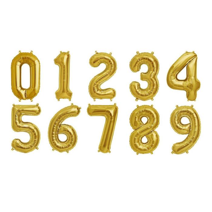 Jumbo numbers balloons